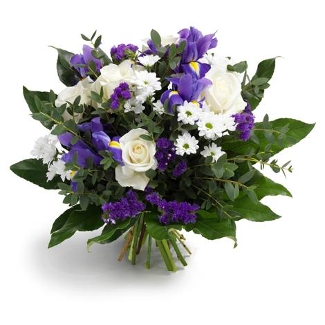 Blumenstrau blau weiss versand f r blumen pflanzen for Floristik versand