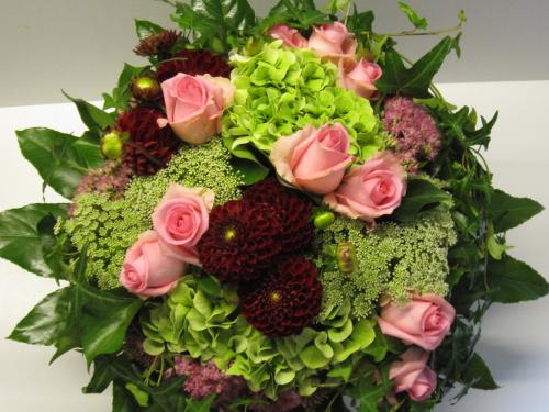 Hortensien strauss strauss nr 9 versand f r blumen for Floristik versand